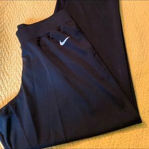 Nike dri fit black pants Medium